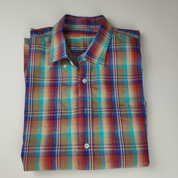 Alan Flusser Other - Alan Flusser Short Sleeve Button Up Shirt XXL